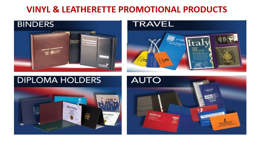VINYL & LEATHERETTE PROMOTIONAL PRODUCTS